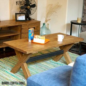 あたたかみある無垢とIRONのコラボレーション!BurrelcoffeeTable(バレルコーヒーテーブル)BIMAKES(ビメイクス)全2色(ナチュラル、ブラウン)送料無料