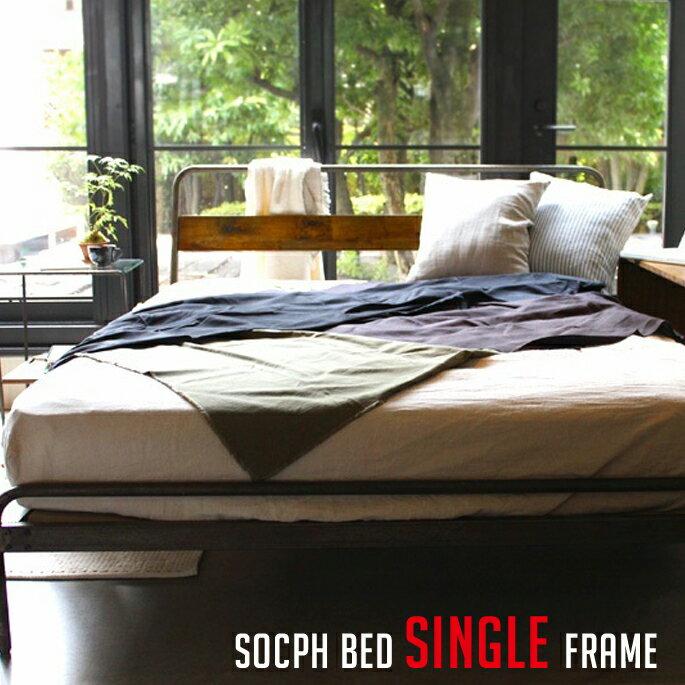 ベッドフレーム ソコフ ベッド ダブル socph bed double SCP-BED-DL アデペシュ a.depeche カバ材 寝室 木製家具 西海岸 アメリカンビンテージ