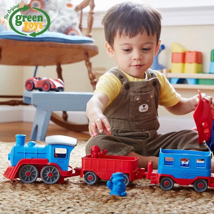 電車・機関車, 蒸気機関車  Train blue GRT-TRNB1054 Green toys USA 2 3 4