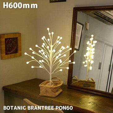 ライト イルミネーション 高さ600mm ボタニック ブランツリー PON60 BOTANIC BRANTREE PON60 AOL-636 照明ライトLEDイルミネーション リモコン付き 調光機能 防滴ACアダプター ボタン電池1個付 ヴィンテージ レトロ 北欧 クリスマス カフェ風 ナチュラル