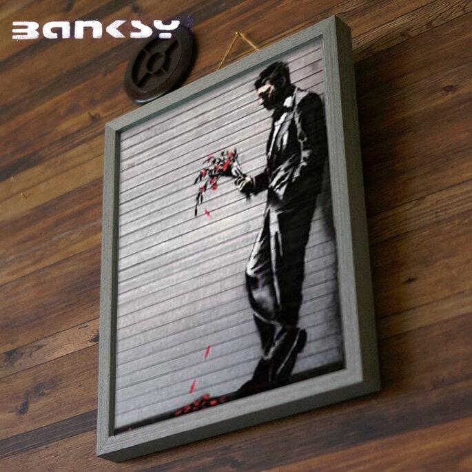 アート Wither バンクシー Banksy IBA-61734 絵画 アートフレーム 風刺画 ストリートアート 路上芸術 オークション イギリス ロンドン 芸術 オシャレ 305×380×32mm 英国 UK ダークユーモア ブラックジョーク ステンシル技法