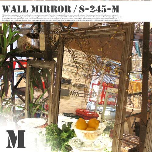 ヴィンテージ感漂うオシャレミラー♪ Wall mirror RECTANGLE M(ウォールミラー レクタングルMサ...