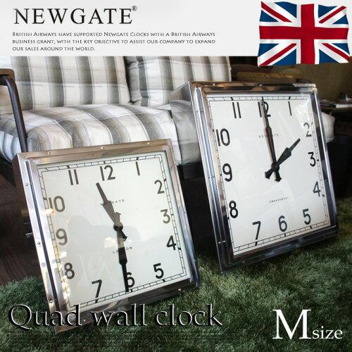 レトロアンティークデザインのオシャレ時計☆From United KingDom♪ Quad wall clock M (クヮドウ...