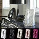光沢とカッティングが美しいティッシュボックス ティッシュケース(TISSUE CASE) ダイアモンド(Diamond) YAMAZAKI ブラック他全5色