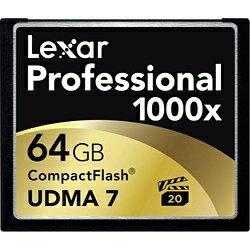 【送料無料】 レキサー 64GBコンパクトフラッシュ LCF64GCTBJP1000