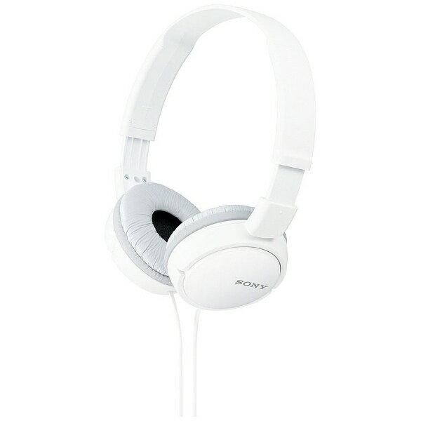 オーディオ, ヘッドホン・イヤホン  SONY ) MDR-ZX110 W 1.2mMDRZX110W