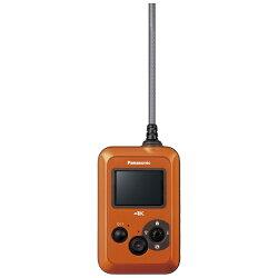 【送料無料】パナソニックマイクロSD対応3.0m防水・防塵対応4Kウェアラブルカメラ(オレンジ)HX-A500-D【動画有り】