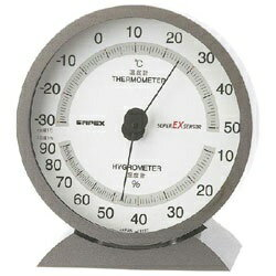 エンペックス EMPEX INSTRUMENTS EX-2717 温湿度計 スーパーEX メタリックグレー [アナログ][EX2717]