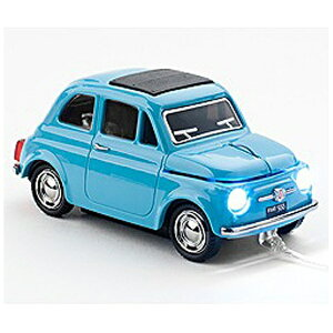 FACE 有線光学式マウス[USB]車マウス(フィアット) Fiat 500 Oldtimer Blue
