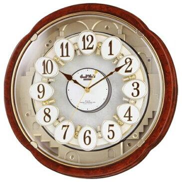 【送料無料】 リズム時計 【2000円OFFクーポン 8/7 16:00〜8/9 01:59】電波からくり時計 「スモールワールド」 4MN480RH23