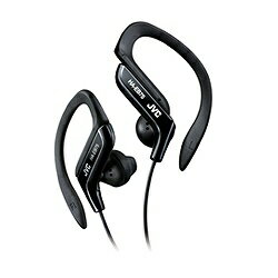 JVC 防滴仕様耳かけ型イヤホン (ブラック) HA-EB75-B 1.2mコード 【防滴・スポーツ】[HAEB75B]