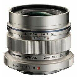 オリンパス OLYMPUS カメラレンズ ED 12mm F2.0 M.ZUIKO DIGITAL(ズイコーデジタル) シルバー [マイクロフォーサーズ /単焦点レンズ][ED12MMF2.0]