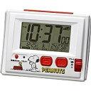 リズム時計 電波目覚まし時計 「スヌーピーR126」 8RZ126RH03(ホワイト)[8RZ126RH03]