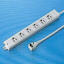 サンワサプライ 工事物件タップ (ホワイト・3ピン式・6個口・3m) TAP-K6L-3[TAPK6L3]
