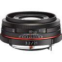 【送料無料】 リコー(ペンタックス) 交換レンズ HD PENTAX-DA 21mm F3.2AL Limited【ペンタックスKマウント(APS-C用)】(ブラック)[HDPENTAXDA21MMF3.2AL]