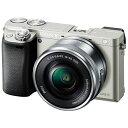 ソニー SONY ILCE-6000L-S ミラーレス一眼カメラ パワーズームレンズキット α6000 シルバー [ズームレンズ][ILCE6000LS]