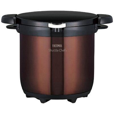 【送料無料】 サーモス 真空保温調理器 「シャトルシェフ」(4.5L) KBG-4500-CBW クリアブラウン