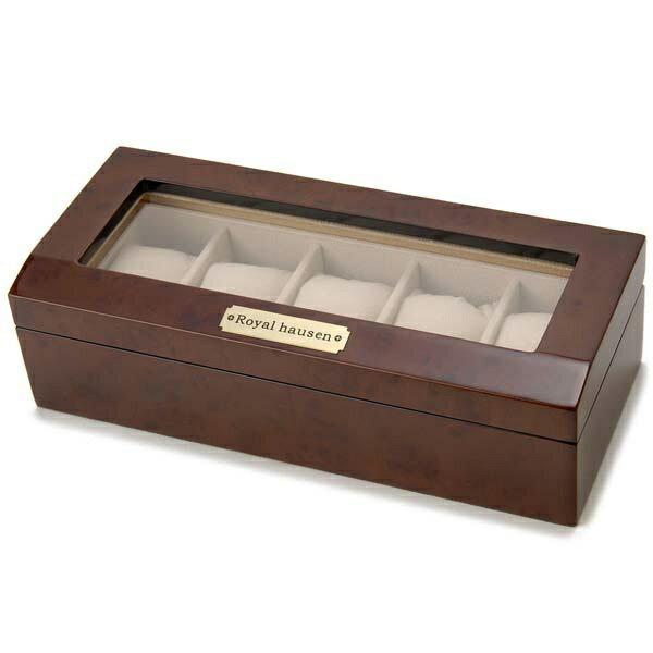 サンブランド 木製時計収納ケース(5本用) 189962