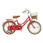 【送料無料】 ブリヂストン 16型 幼児用自転車 ハッチ(レッド)HC162【組立商品につき返品不可】 【代金引換配送不可】