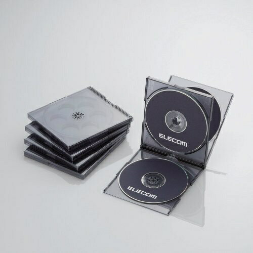 記録用メディアケース, CD・DVDケース  ELECOM CDDVDBlu-ray 45 CCD-JSCNQ5CBKCCDJSCNQ5CBK