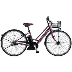 【送料無料】 MARUKIN 27型 電動アシスト自転車 レアルタシティハイブリッド(パープル) MK-14-046 【組立商品につき返品】 【配送】【メーカー直送・・時間指定・返品】