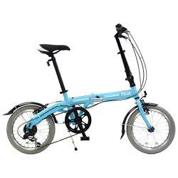 【送料無料】 チャクル 16型 ノーパンク折りたたみ自転車 FDN-CC166AL (ブルー/6段変速)【組立商品につき返品】 【配送】【メーカー直送・・時間指定・返品】