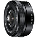 【送料無料】 ソニー SONY 交換レンズ E PZ 16-50mm F3.5-5.6 OSS【ソニーEマウント(APS-C用)】[SELP1650Q]