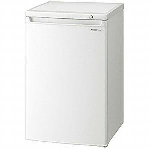 【標準設置費込み】 シャープ 《基本設置料金セット》冷凍庫(86L) FJ-HS9X-W ホワ…