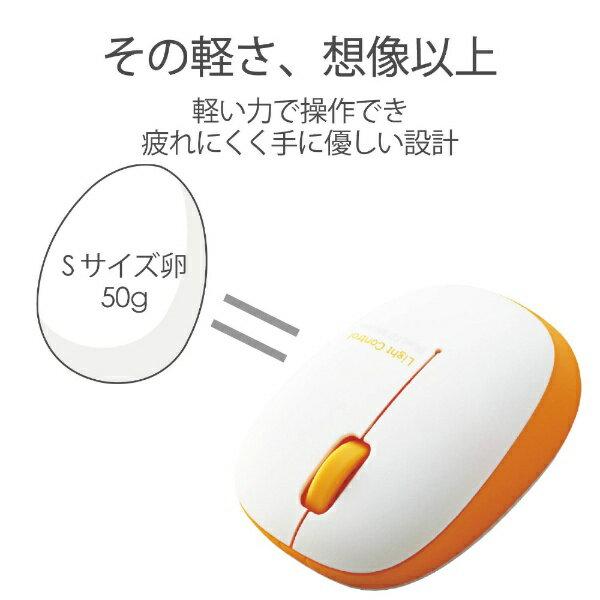 エレコム ELECOM M-BL20DBDR マウス オレンジ [BlueLED /3ボタン /USB /無線(ワイヤレス)][MBL20DBDR]画像