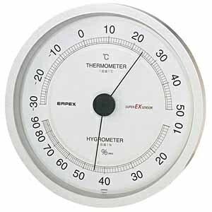 エンペックス EMPEX INSTRUMENTS EX-2747 温湿度計 スーパーEX シャインシルバー [アナログ][EX2747]