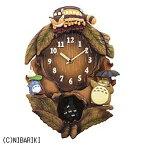 リズム時計 RHYTHM メロディ付掛け時計 となりのトトロ 茶色ボカシ仕上 4MJ837MN06[4MJ837MN06]