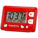 リズム時計 電波目覚まし時計 「ハローキティR095」 8RZ095RH01