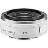 【送料無料】 ニコン 交換レンズ 1 Nikkor 10mm f/2.8【ニコン1マウント】(ホワイト)[102.8WT]