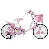 【送料無料】 ブリヂストン 18型 幼児用自転車 ディズニープリンセス(オーロラホワイト)NPR18【組立商品につき返品不可】 【代金引換配送不可】