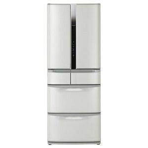 【標準設置費込み】 日立 《基本設置料金セット》6ドア冷蔵庫 「真空チルド」(517L) R-F520E-SH ハイブライトステンレス