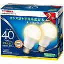 東芝 調光器非対応LED電球(一般電球形・全光束485lm/電球色・口金E26) LDA5L-G-K/40W-2P