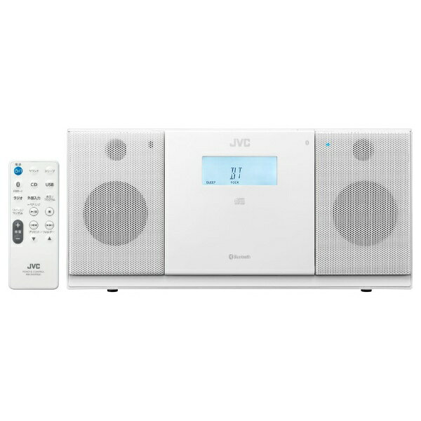 JVCジェイブイシーCDラジオNX-PB30ホワイト Bluetooth対応/ワイドFM対応  CDコンポブルートゥースNXPB