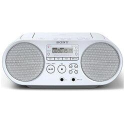 【送料無料】ソニー【ワイドFM対応】CDラジオ(ラジオ+CD)(ホワイト)ZS-S40WC[ZSS40WC]