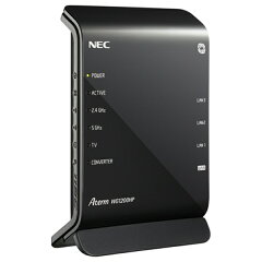 【送料無料】 NEC 無線LANルータ(11ac 867Mbps+11n 300Mbps・親機単体) AtermWG1200HP PA-W...