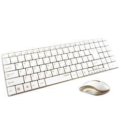 【送料無料】ユニークワイヤレスキーボード[2.4GHz・USB・Win]&マウス5.6mmウルトラスリム(108キー・ゴールド)rapoo9160[rapoo9160]