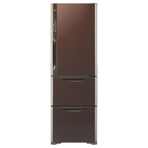 【標準設置費込み】 日立 《基本設置料金セット》3ドア冷蔵庫「真空チルド」(365L) R-S3700FV-XT クリスタルブラウン