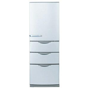 【標準設置費込み】 AQUA 《基本設置料金セット》 4ドア冷蔵庫 (355L) AQR-361D-S ブライト...