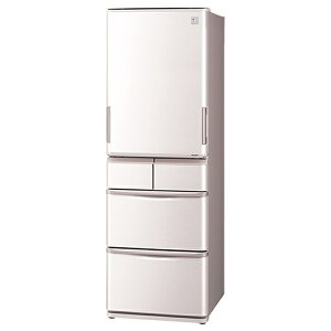 【標準設置費込み】 シャープ 《基本設置料金セット》 5ドア冷蔵庫 (424L) SJ-PW42A-C ベージュ系(サクラベージュ)