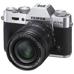 【送料無料】 フジフイルム FUJIFILM X-T10【レンズキット】(シルバー/デジタル一眼)