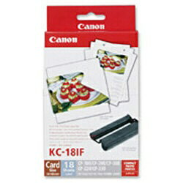 キヤノン CANON 【純正】カラーインク/フルサイズラベルセット (カードサイズ:全面シール・18シート分) KC-18IF[KC18IF]【wtcomo】画像