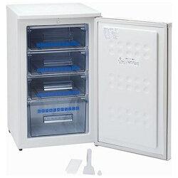 【標準設置費込み】アビテラックス《基本設置料金セット》1ドア冷凍庫(100L)ACF-110Eホワイトストライプ