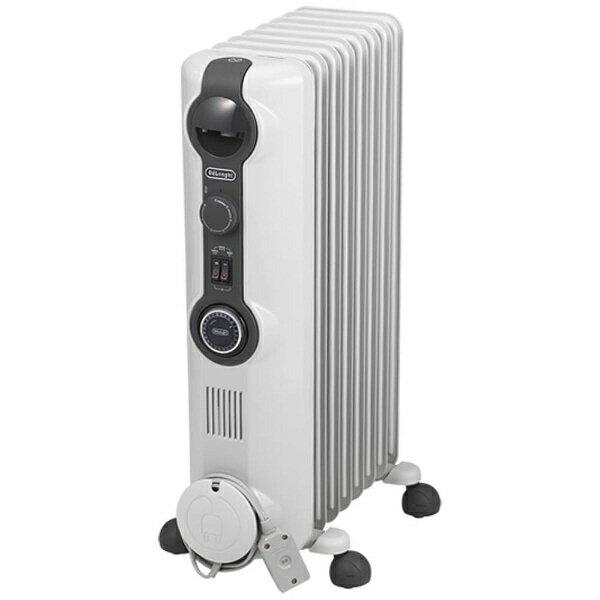 デロンギ Delonghi HJ0812 オイルヒーター ホワイト+ミディアムグレー [8〜10畳][暖房 電気ヒーター HJ0812]