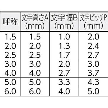 浦谷商事 ハイス組合せ刻印2.0mmバラ 英字F UC20BF