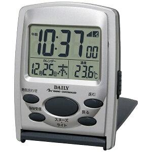 リズム時計 電波目覚まし時計 「ジャストウェーブR107DN」 8RZ107DN19