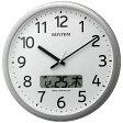 【あす楽対象】【送料無料】 リズム時計 Rhythm Watch 電波掛け時計 「プログラムカレンダー01SR」 4FNA01SR19